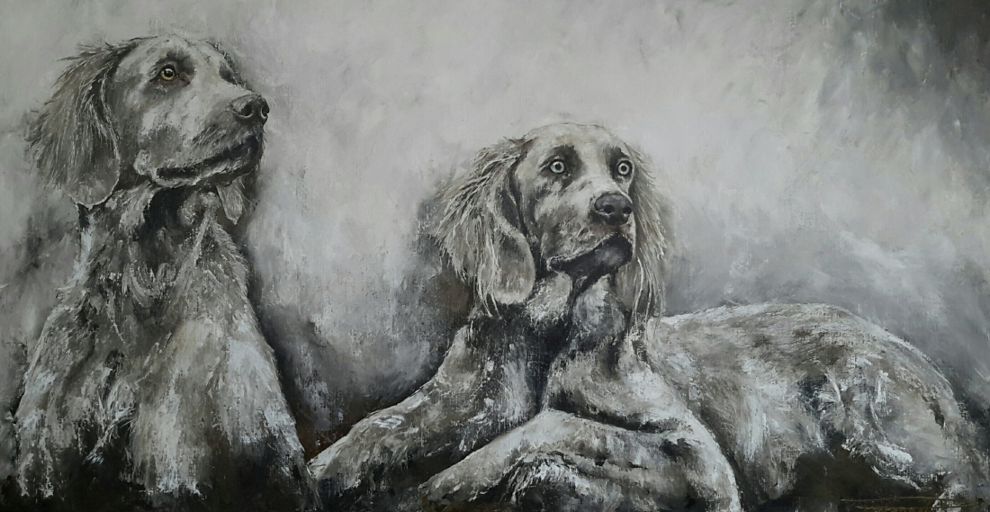 """Bruce & Maggs"" 80x160 on commission"