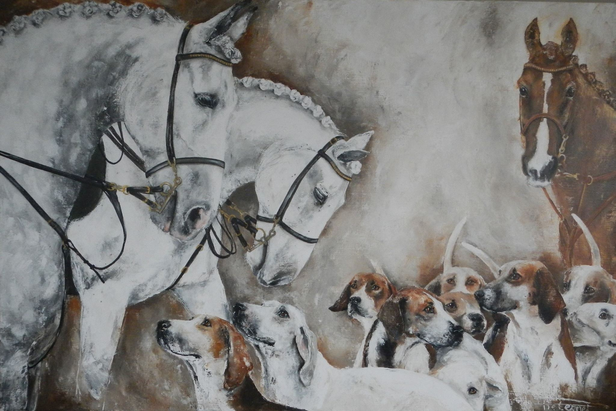 """Early Hunt"" 120×180 on commission Familie Beekmans"