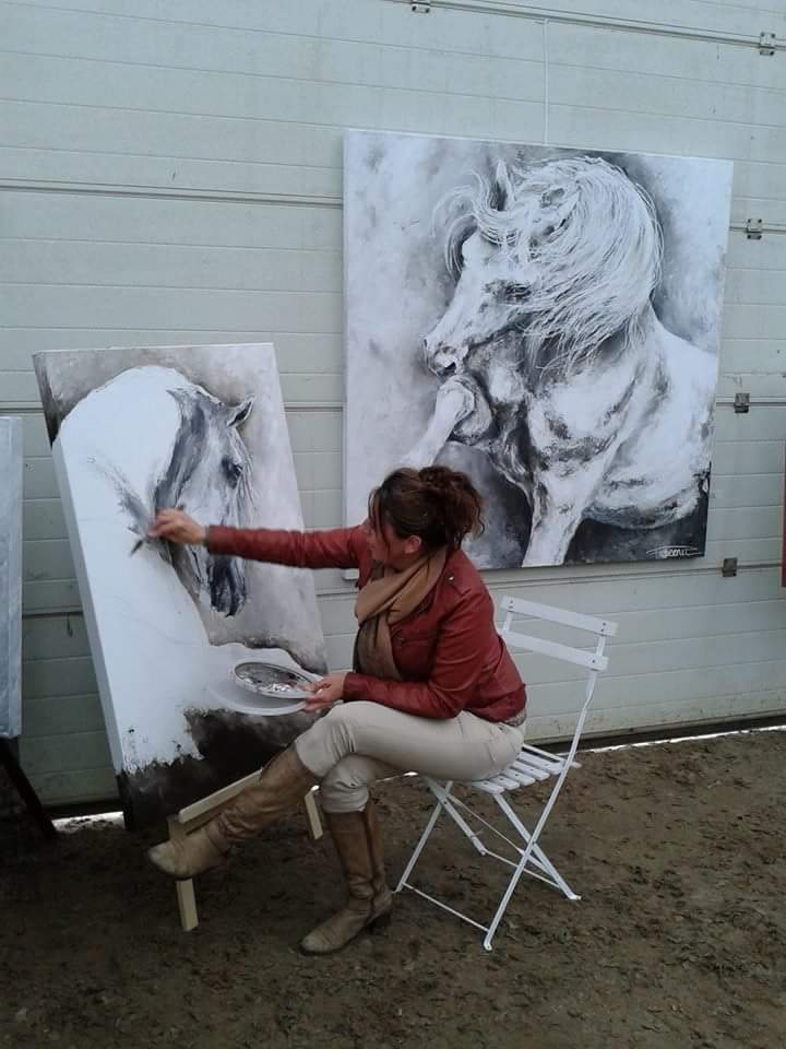 "Painting during the event ""Horses of the Sun"""